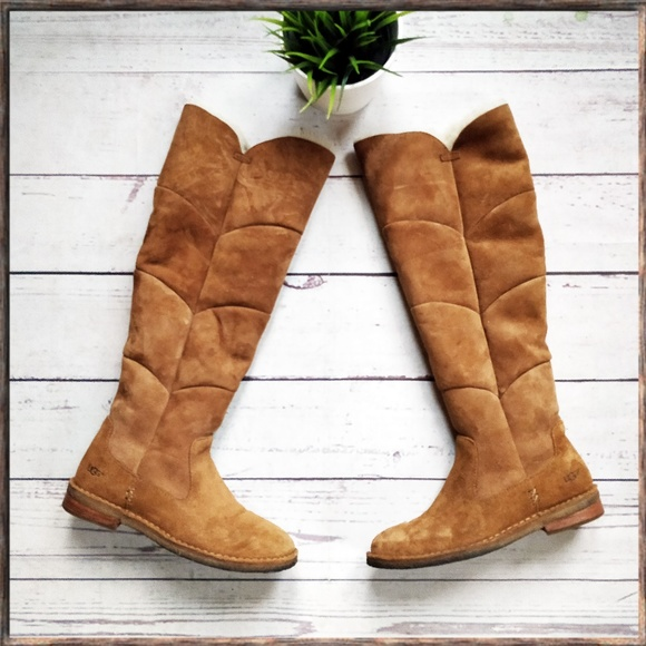 8dfa08d698b UGG Samantha Over-the-knee Chestnut Sheepskin Boot